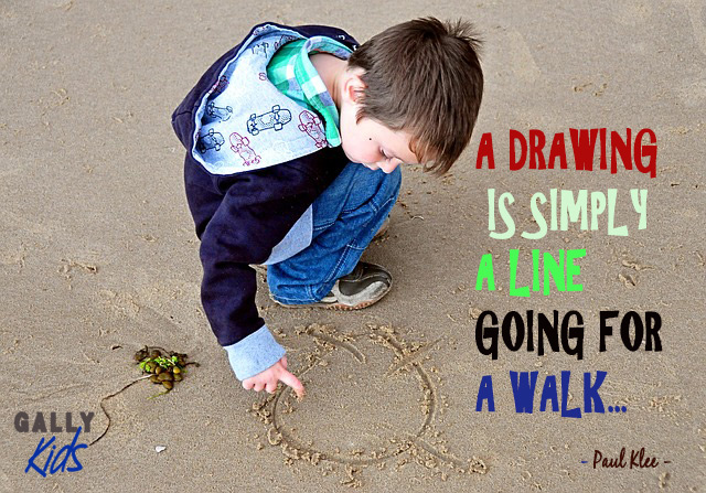 A drawing is simply a line going for a walk quotation.