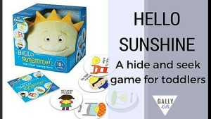 "This is a simple game for toddlers but you'll be surprised at how much fun your child is going to have with ""Sunshine"". If you don't wish to buy the toy, you can also easily do this with a favorite toy that your child already has. This is an educational...@gallykids"