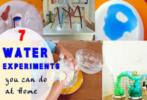 7 amazing water experiments for kids - easy educational experiments to learn the properties of water.