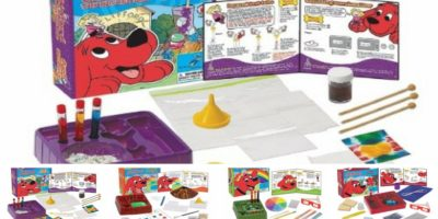 Clifford The Big Red Dog Science Kits: One of the best science kits for kindergarten kids featured.