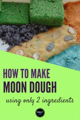 Moon Dough recipe using only 2 ingredients