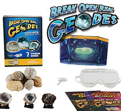 Break Open Geode Kit for kids - This kit includes geodes from all over the world.