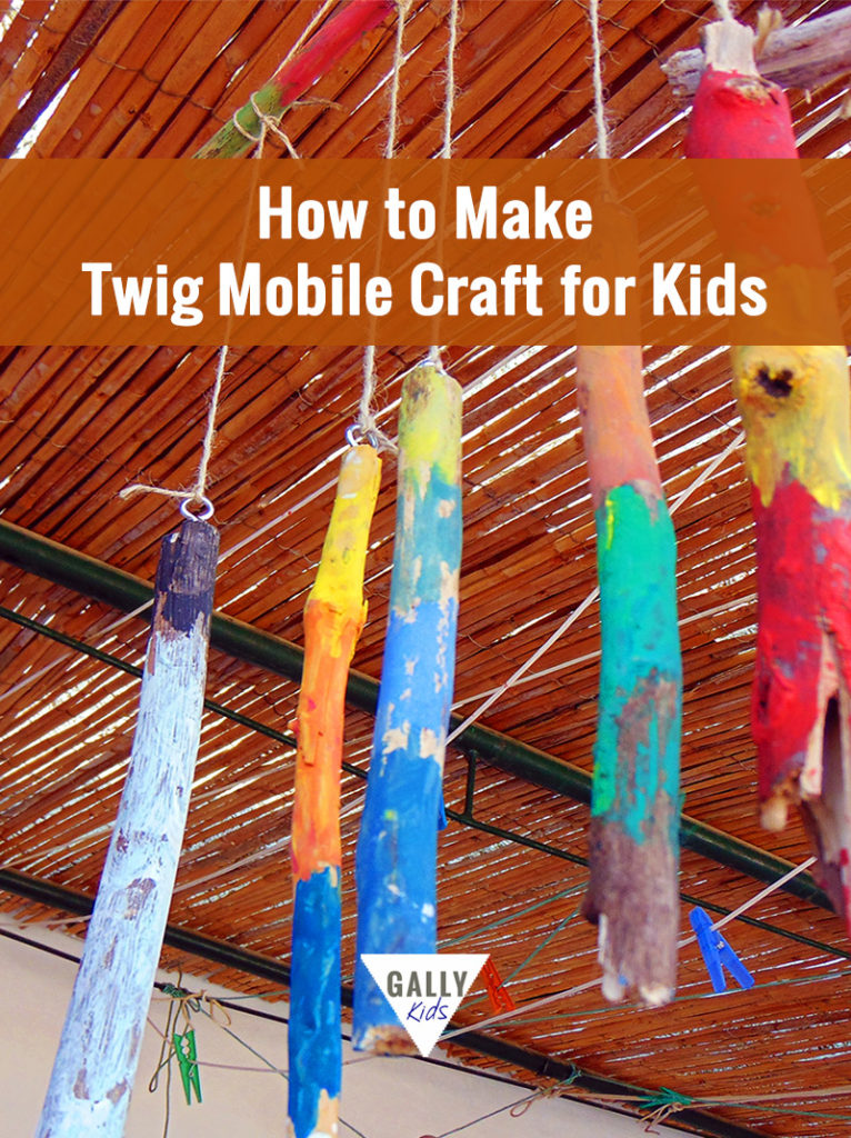 Simple steps to make a twig mobile craft that kids can easily do @gallykids