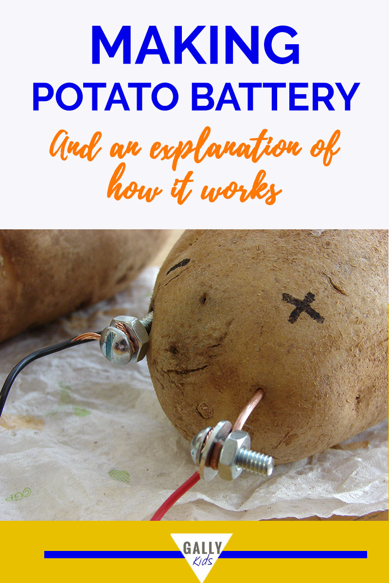 The Classic science experiment of making a potato battery and how this works.