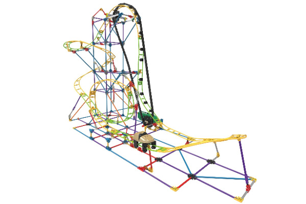 k'nex roller coaster building set. Build an actual moving roller coaster.