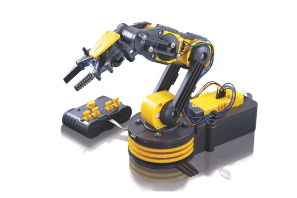 Robotic arm for kids - 8 year olds may need a little bit of help assembling this one but it's a great way to learn about robotic engineering.