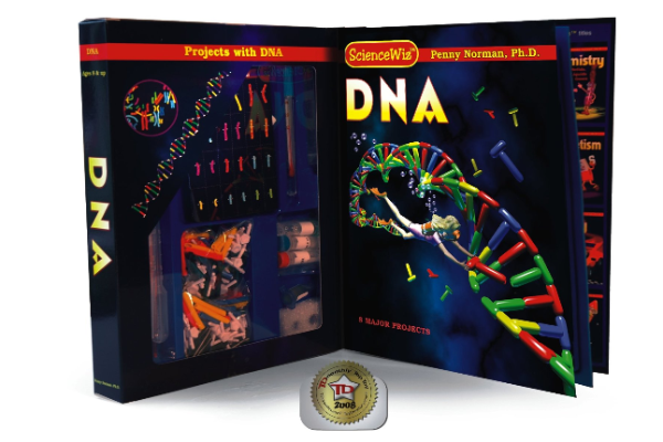 DNA kit - Sounds complicated but it isn't, a 10year old can actually easily put this together to learn more about complex stuff like DNA.