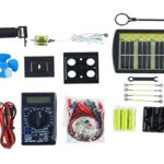 Solar Lab Electricity Learning kit for kids - a kit for circuit building. They also learn how to make solar batteries!