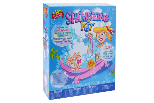 Spamazing Kit by Science Explorer - Everything a kid needs to have his or her own spa at home. Relax and learn about Chemistry.