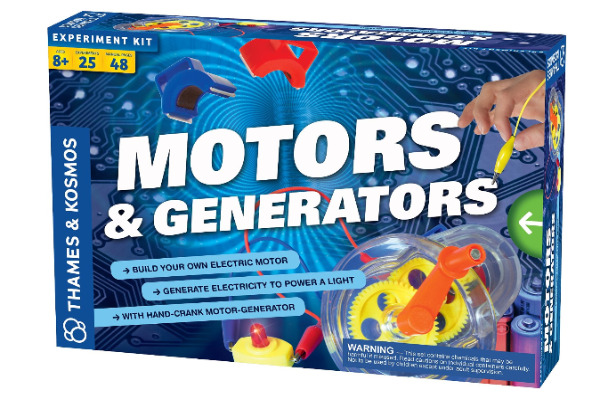 Thames and Kosmos Motors and Generators - a fun way to learn more about circuits by building generators.