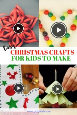 It can't get easier than this. Over 10 easy christmas crafts for kids that they can easily do at home plus youtube video instructions.