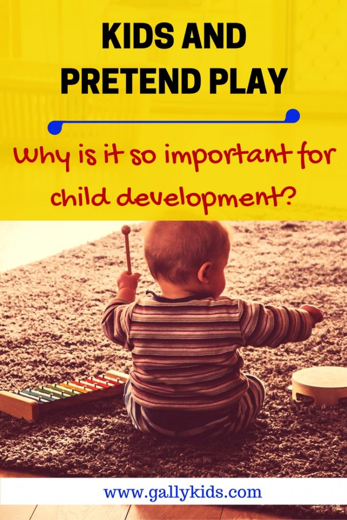 The stages of play pretend  and the important skills that are developed when a child plays pretend.
