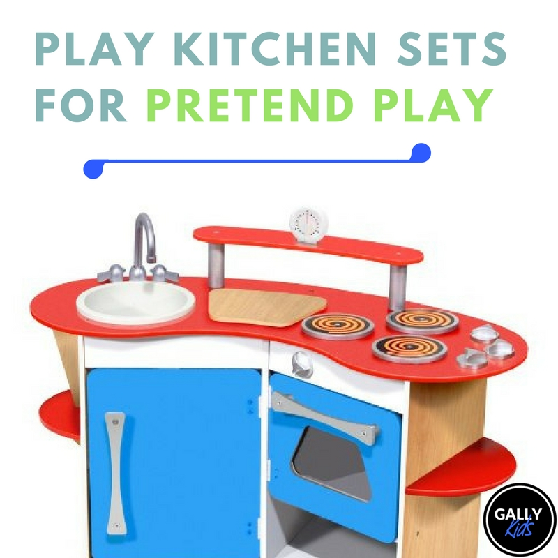 Using kitchen sets for pretend play and how you can DIY it.