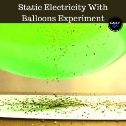 Static Electricity Experiment With Balloons : The Jumping Pepper