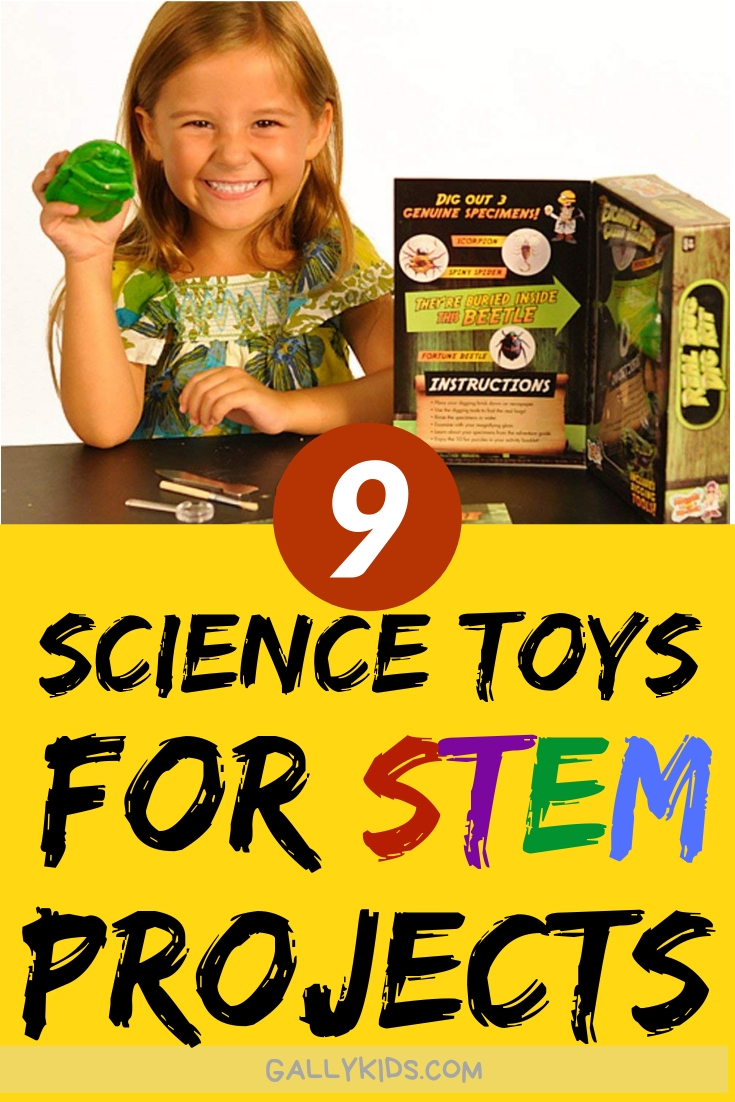 20 different Science toys for kids STEM Projects. Get your children interested in Science, Technology, Engineering & Maths with these engaging and fun toys that teaches kids many Science concepts while having fun.