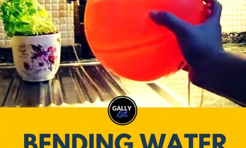 Bending Water Experiment With A Balloon: Try The Power Of The Force!