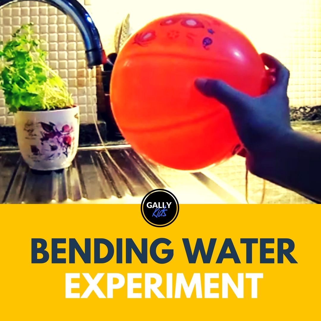 A super cool experiment to show static electricity to kids. Try it with other things in the house!!!
