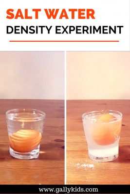 This is how you make an egg float - the experiment on salt water density.