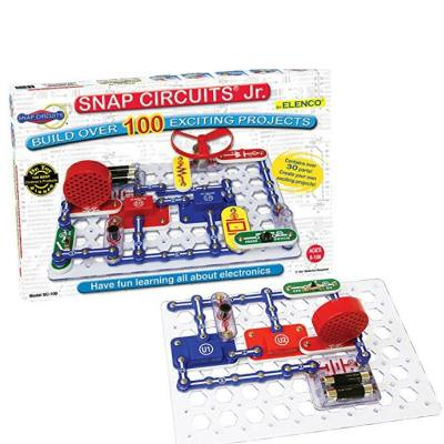 Snap Circuits Jr. Electronic discovery kit for kids - Kids learn all about circuits using Snap Circuits which are very easy to put together and snap on.