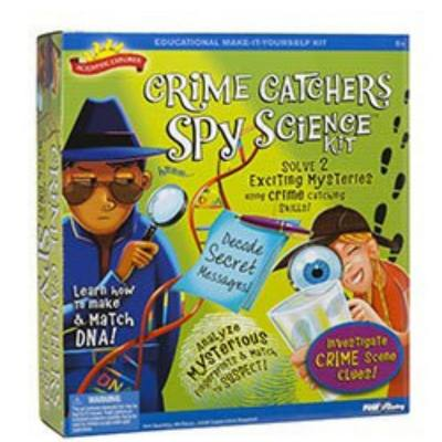 Scientific Explorer Crime Catcher Spy science kit - Popular forensic Science kit that helps kids learn how to solve mysteries and be a Forensic detective. They even learn how to make and match DNA. Very fun