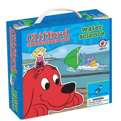 Clifford the big red dog water science kit - fun and easy experiments are included in this Water science kit. Young kids learn all about floating/density, why it rains, the water cycle and more.