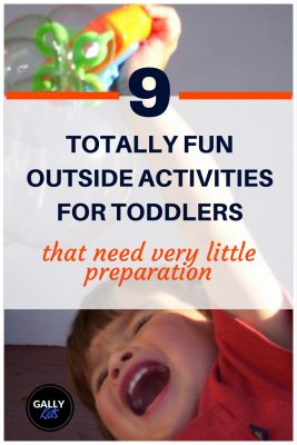 List of fun outdoor activities that 18 - 36 month old toddlers will be more than happy to do.