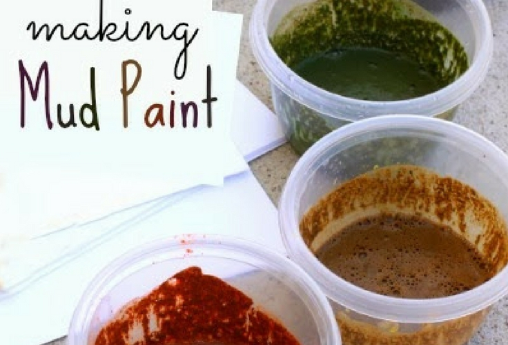 Did you know that there's a thing as mud paint? Little Me would have been so excited.