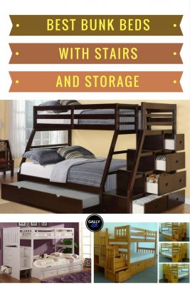 Choose the best bunk bed with stairs and storage. Some even come with a trundle bed.