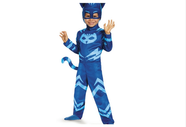 The perfect blue cat costume. If your toddler is a PJ Mask fan, this is the cat costume he's want to wear.