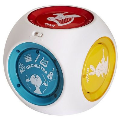 Baby Einstein Munchkin Mozart Magic Cube. This one plays classical music