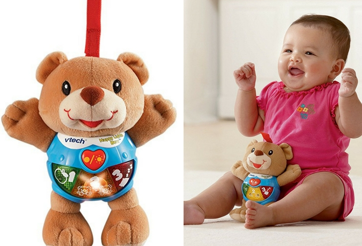 Cuddly and musical. This soft musical toy is just perfect for car journeys or long haul trips.