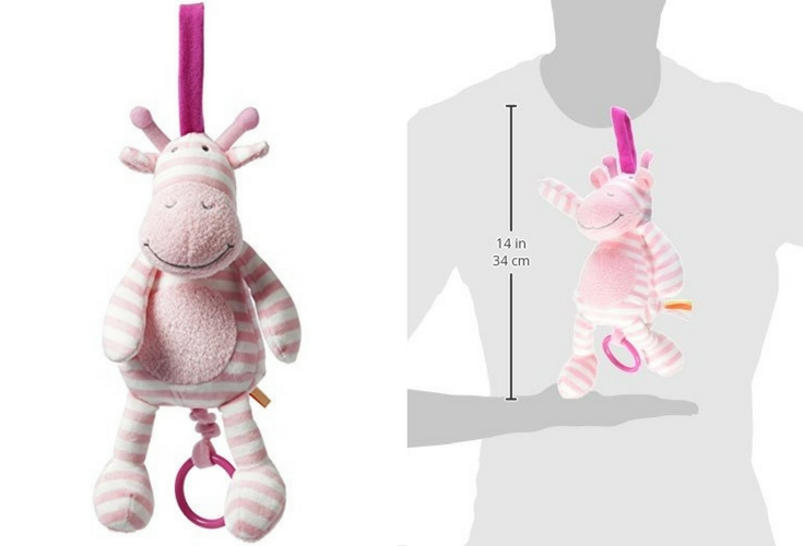 Manhattan toy pink giraffe. Plays classical music.