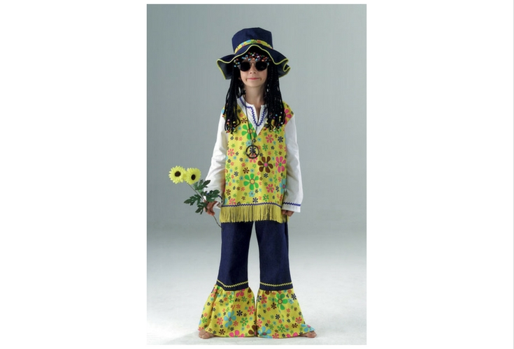 A flower child costume for kids. Very easy to DIY it too