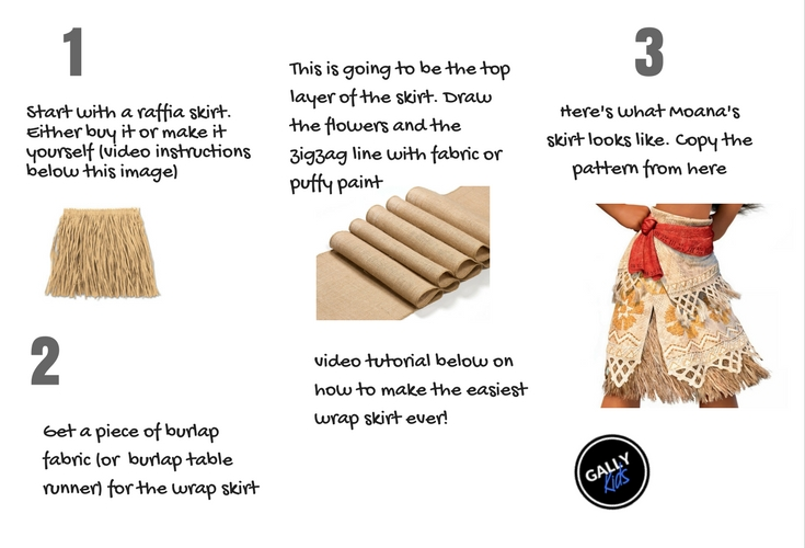 Make your own Moana skirt
