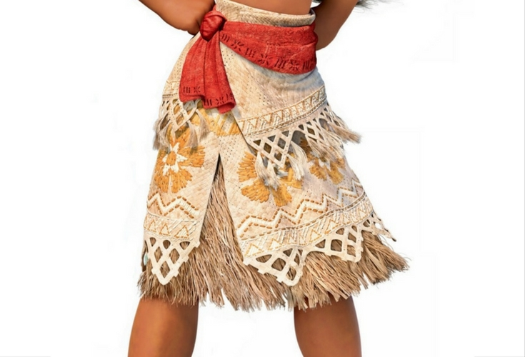 Close up of Moana's skirt to copy the pattern.