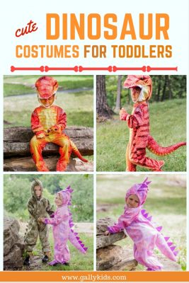 Dinosaur costumes for toddlers and preschoolers. Whichever color you want: blue, red or green dinosaur, it's included on this list.