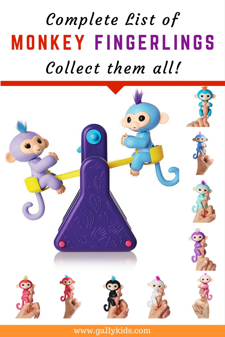 Baby Monkey Fingerlings toys list. Collect them all. cute robotic and electronic collectibles kids would want to have for Christmas.