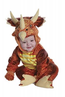 How cute is this baby in this orange triceratops costume¿ This also has 2T sizes for toddlers