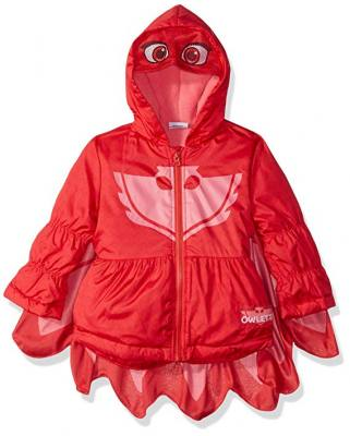 Owlette puffer coat hoodie with  logo. Great for Pretend play or everyday wear.