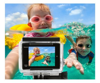 Works like a gopro for kids. This action camera can even be used under water. So cool