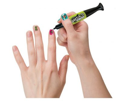Nail Pens. These work pretty nicely on painted nails. What a fun idea.