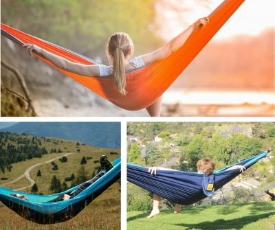 Light camping hammock. Not just for camping. Great for picnics and just when you're out and about.