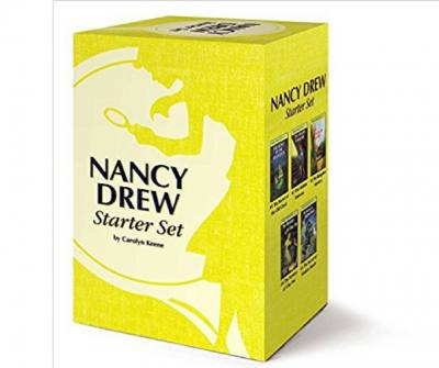 Nancy Drew Starter set. -- Very old school but this newly designed starter book makes a great present for young girls! Love this as a kid and I'm sure young kids nowadays still love these stories too.