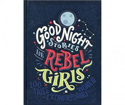 100 tales of extraordinary women are on the pages of this book, Good Night Stories for Rebel girls. From Elizabeth 1 to Serena Williams, your child will know many women in history who kick *ss!