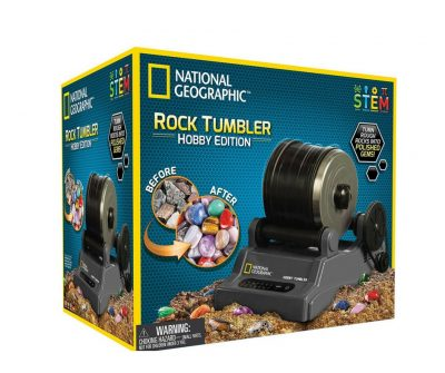 Rock tumbler for kids. Comes with rocks that turn into polished gems.