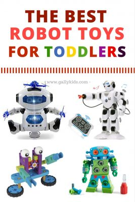 Robot toys for 2. 3 and 4 year old kids. Great for learning STEM skills.