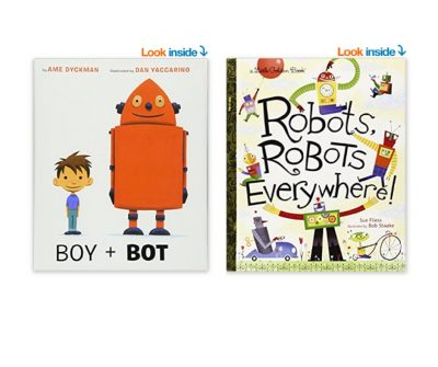Boy + Bot and Robots Robots Everywhere: Two of the best toddler books about robots. #booksaboutrobots #toddlerbooksaboutrobots #booksaboutrobots #kidsbooks #toddlerbooks #booksfortoddlers