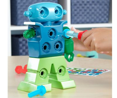 An appropriate robotic toy for toddlers. This is by Educational Insights Design and drill a robot. a fun robot toy kit for toddlers who like to build and tinker things.