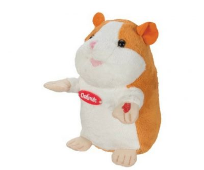 "Talking Hamster toy. This hamster repeats whatever you say in whatever language you speak. It even speaks ""dog"". Very fun and funny."
