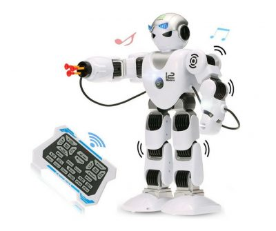 Wireless Humanoid robot that can speak, move and even shoot darts.